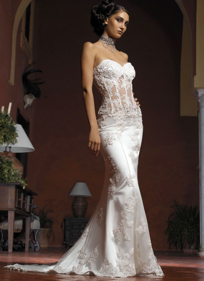 Gorgeous Mermaid Wedding Dresses : Beautiful cheap mermaid wedding dresses cherry marry